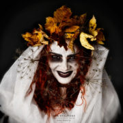 Portrait of Madalina at Halloween