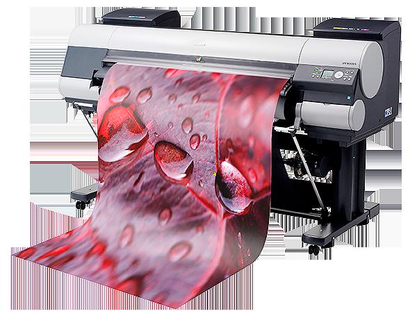 Storformatsskrivare för utskriftar av Canvastavlor, giclee fine art eller fine art samt posters, förstoringar på en Canon IPF 8400 hos Foto & Design Per Stålfors.